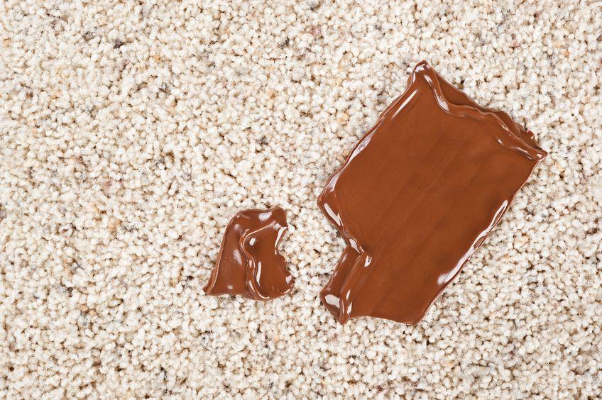 czekolada na dywanie
