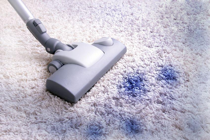 zabrudzony dywan